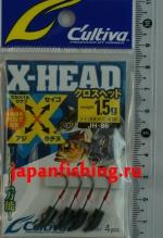 C`ultiva JH-86 1.5g #7 4шт. X-head