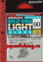 Decoy Split Ring Light #00 12lb black 20шт. заводные кольца