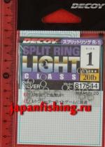 Decoy Split Ring Light #1 20lb silver 20шт. заводные кольца