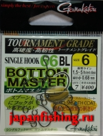 Gamakatsu Bottom Master 66BL #6 gunmetal 7шт.+кольца