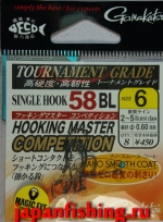 Gamakatsu Hooking Master Competition 58BL #6 (magic eye) gunmetal 8шт.