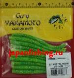 """Gary Yamamoto Kut Tail Worm 3.5"""" (52773) Chart W/LG Grn&Chart"""
