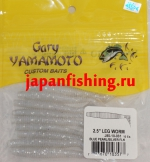 "Gary Yamamoto Leg Worm 2.5"" (03577) Blue Pearl/Silver Flk 10шт."