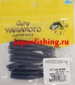 """Gary Yamamoto Leg Worm 2.5"""" (03737) Smoke Pearl Blue 10шт."""