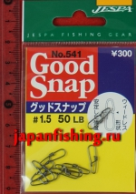 Jespa Good Snap Swivel №541 50lb 9шт. застёжки
