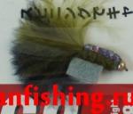Vanfook Leech 0.8g #10 BL (26627) муха