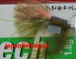 Vanfook Leech 1.8g #8 BL (30020) муха с усами