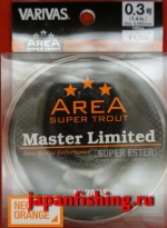 Varivas Area Super Trout Master LTD Super Ester #0.3 1.4lb 0.090mm 140m neo orange