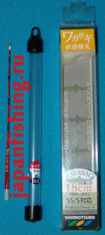 Shimotsuke SS/S 18см, сторожок-хлыст красный