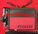 Forest-2017 12.5х9.5х4см red кошелёк д/блёсен
