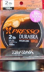 Daiwa Presso Durabra Nanodis300% 2lb 0.117mm 100m моно