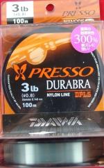 Daiwa Presso Durabra Nanodis300% 3lb 0.148mm 100m моно