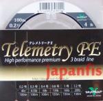 плетёный шнур Daysprout Telemetry PE 3braid #0.2 4lb 100m