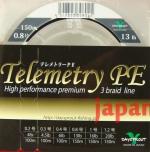 плетёный шнур Daysprout Telemetry PE 3braid #0.8 13lb 150m